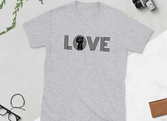 """Black Love is Power""  Short-Sleeve Unisex T-Shirt"