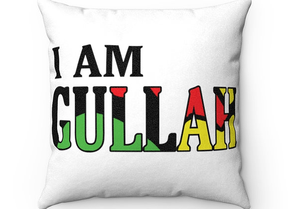 """I""""I Am Gullah"""" Collector's Faux Suede Square Pillow"""