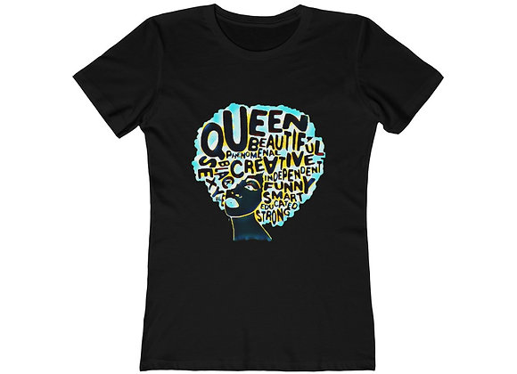 """Black Queen"" Women's Boyfriend Tee"