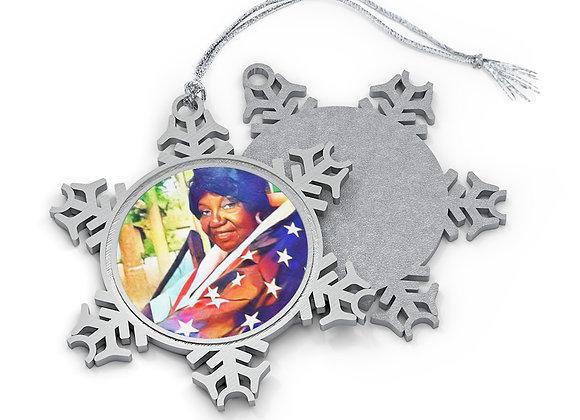 """Rosalie F. Pazant"" Commemorative Pewter Snowflake Ornament"
