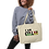 "Thumbnail: ""I Am Gullah"" Large Organic Tote Bag"