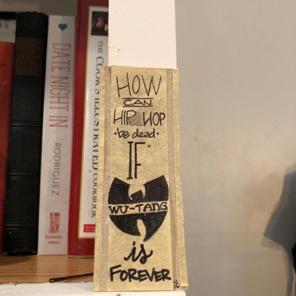 Hand Lettered Bookmark