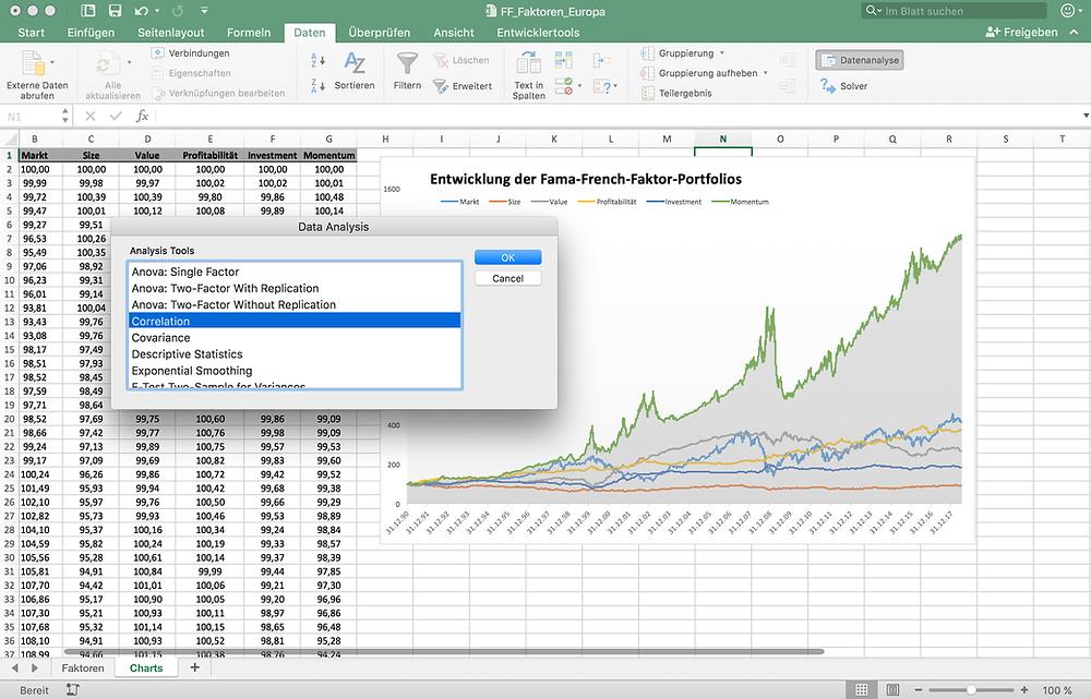 Statistische Auswertung Excel