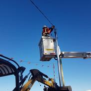 Overhead service upgrade