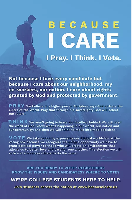 Get Out the Vote Flyer to Distribute on Campus.