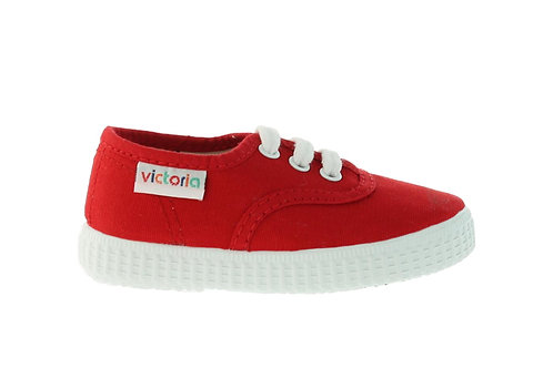 VICTORIA CANVAS PLIMSOLLS RED