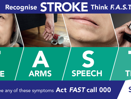 Stroke – think F.A.S.T