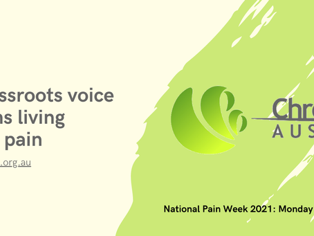 National Pain Week 26th July - 1st August 2021