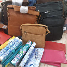 Raw Hide Wallets, Purses, Hand Bags and Satchels