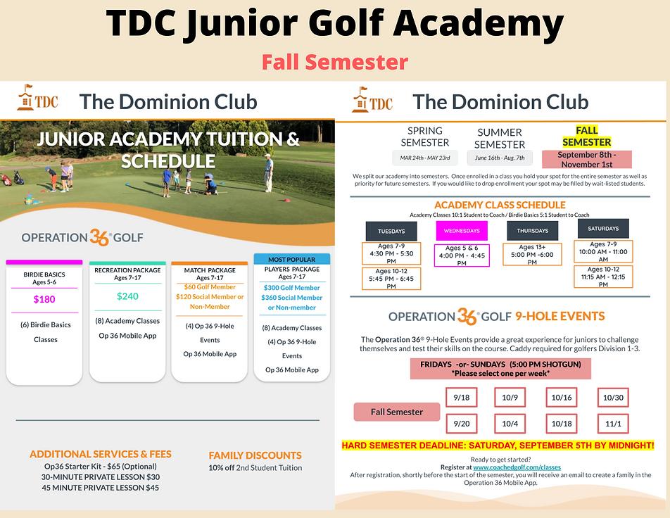 Fall SemesterTDC Junior Golf Academy (2)