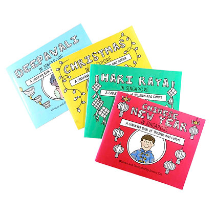 Drawnby: Colouring Books (Set of 4)