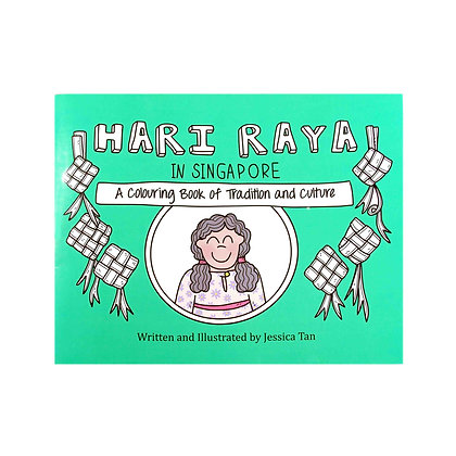 Drawnby: Hari Raya in Singapore Colouring Book