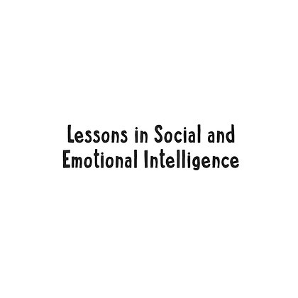 Lesson Plans in Social and Emotional Intelligence