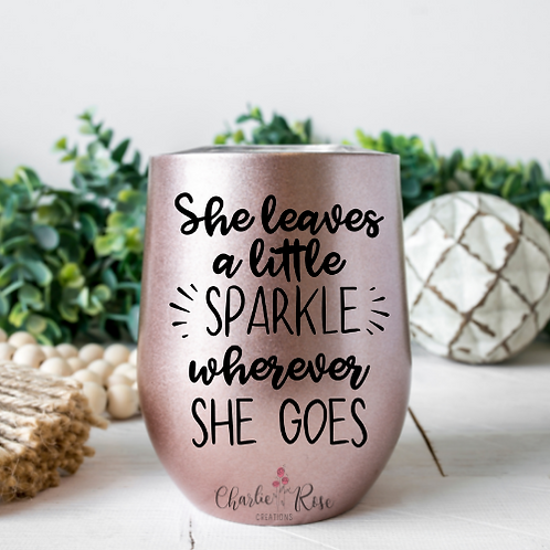She leaves a little sparkle wherever she goes decal download