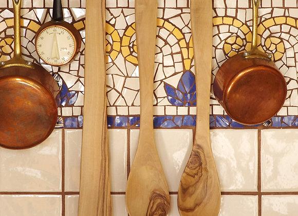 Набор лопатка, ложка и вилка ОЛИВА (36 см)