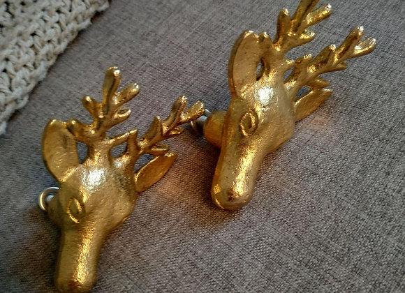 Мебельная ручка DEER IRON GOLD