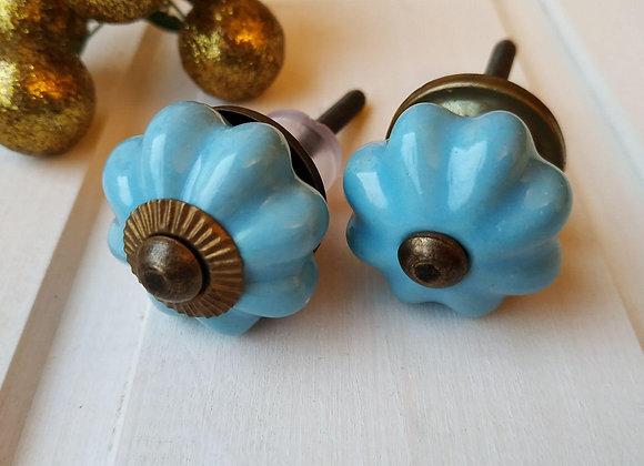 Мебельная ручка мини SKY BLUE KNOB