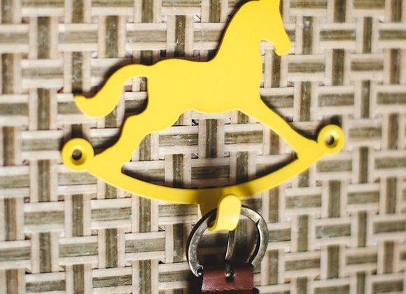 Крючок ЛОШАДКА (желтый)