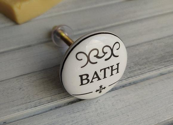 Мебельная ручка Bath Flat Ceramic