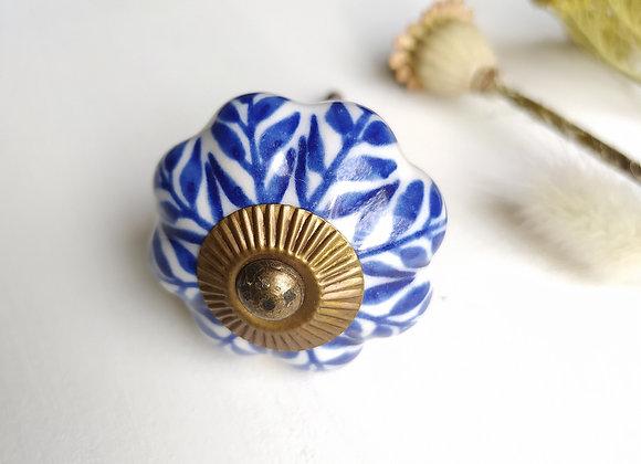 Мебельная ручка Blue Floral