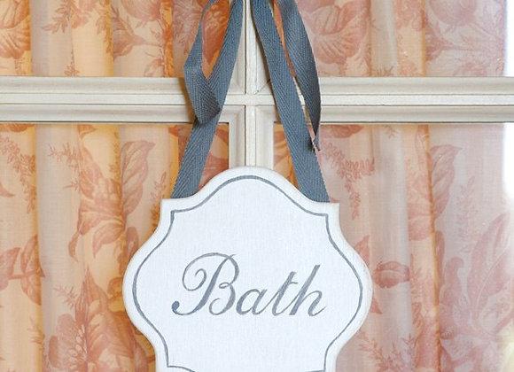 Табличка на туалет BATH