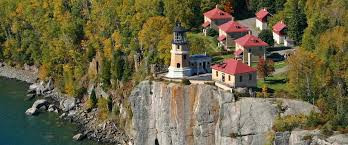 Split Rock Lighthouse, a main setting in Old Farmer's Road!