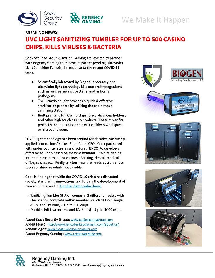 UVC_Tumbler_Casino_Press_Release Regency