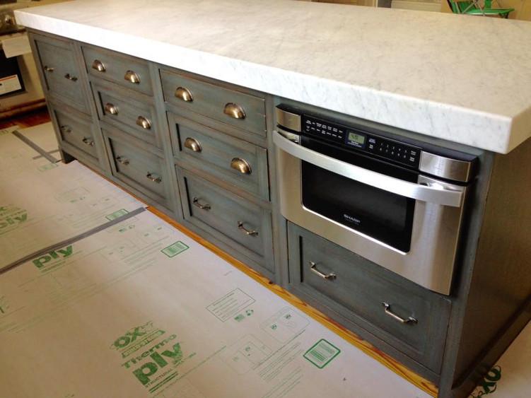 New York Meets Charleston Carriage House Kitchen