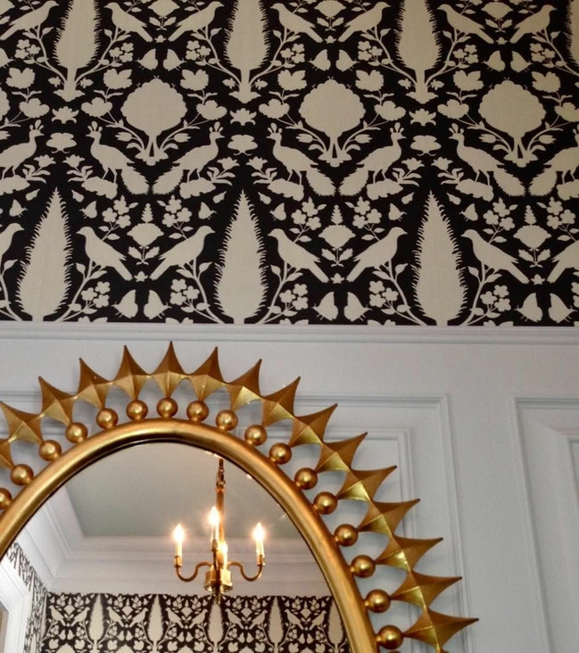 When in a Foyer..... BecauseWallpaper makes everything better!