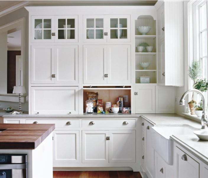 Kitchen Garages handy for hidden snacks and appliances