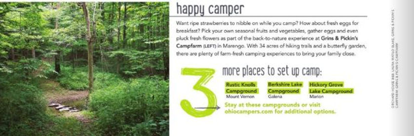 Happy Camper listing in Ohio Travel Guide