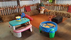 kids play area in the barn