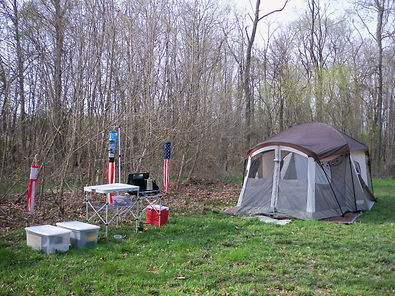 Rent a tent fully furnished with camp stove, cook stove, bedding