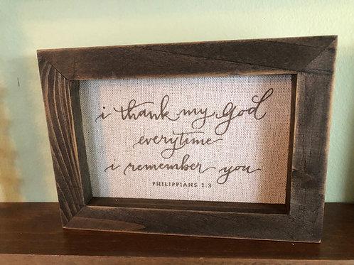 Wooden framed Canvas Verse