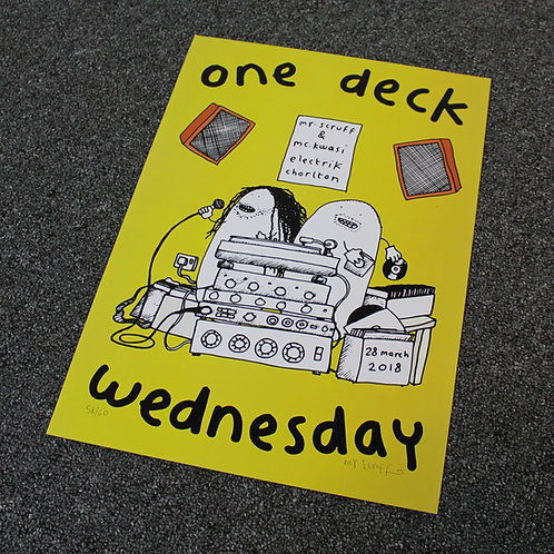 "Mr Scruff ""One Deck Wednesday"" Signed A3 Print"
