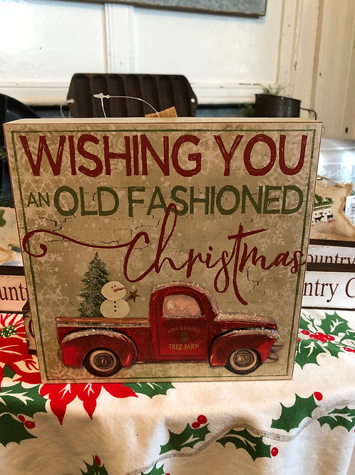 Old Fashioned Christmas Holiday Block