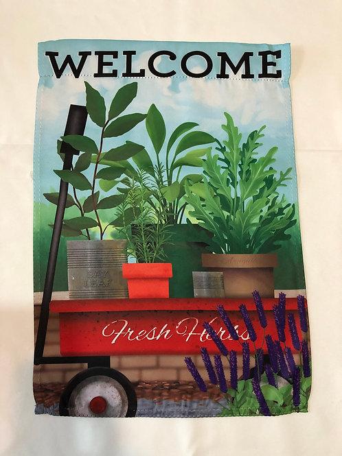 Fresh Herb Welcome Flag