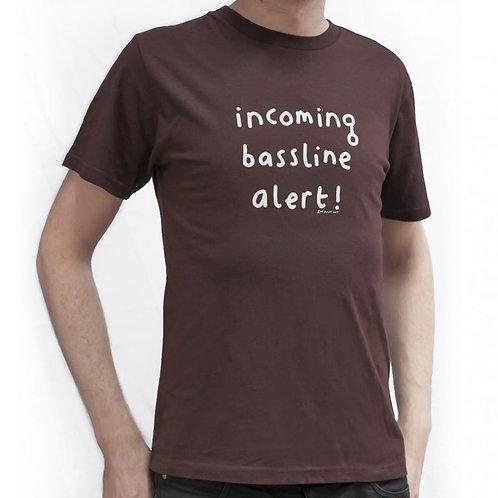 Mr Scruff 'Incoming Bassline Alert' T-Shirt - Brown