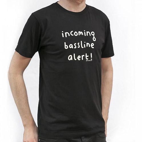 Mr Scruff 'Incoming Bassline Alert' T-Shirt - Black