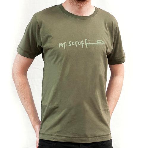 Mr Scruff Khaki T-Shirt - Green Tag