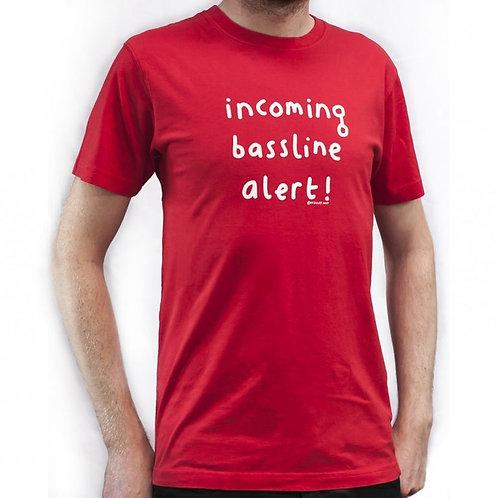 Mr Scruff 'Incoming Bassline Alert' T-Shirt - Red