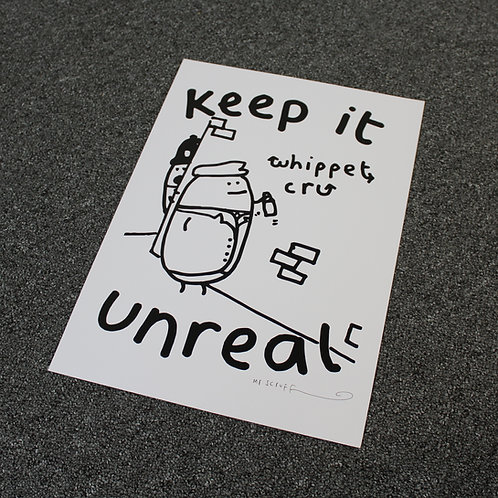 """Mr Scruff """"Whippet Cru"""" Signed A3 Print"""