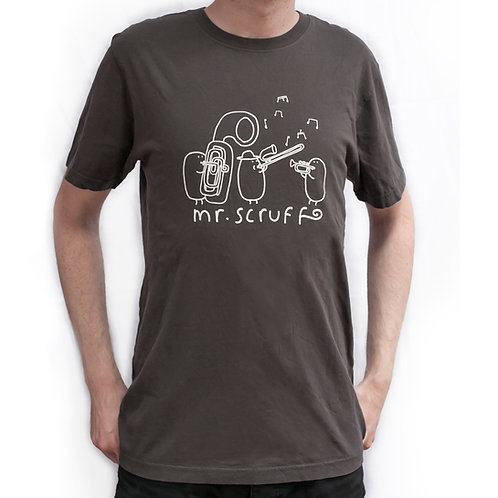 Mr Scruff 'Brass Band' T-Shirt - Charcoal Grey