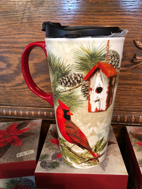 Cardinal Ceramic Travel Mug