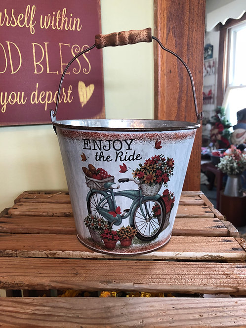 Small Metal Decorative Bucket
