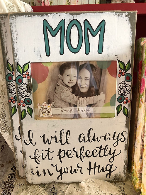 Hand-painted Mom picture frame