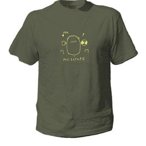Mr Scruff 'Records' t-shirt - Khaki