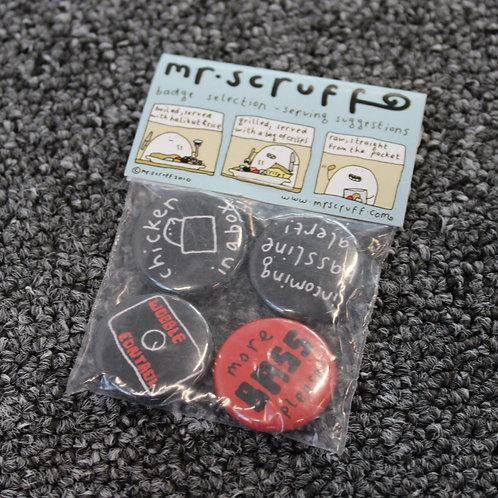 Mr Scruff Badges Set (Bass)