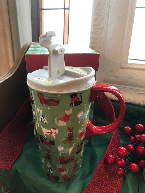 Sassy Cats Ceramic Travel Mug
