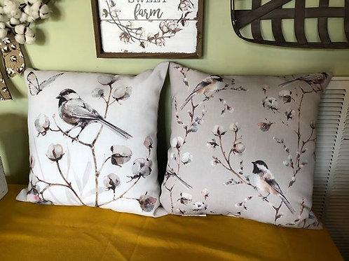 Cotton theme print pillow